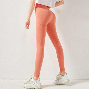 Textured yoga pants