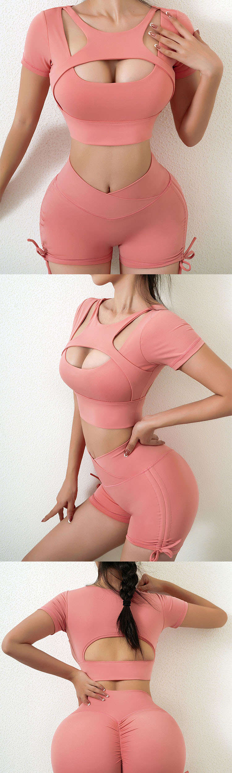 The sexy buttocks design adds a stylish highlight to the body shape.