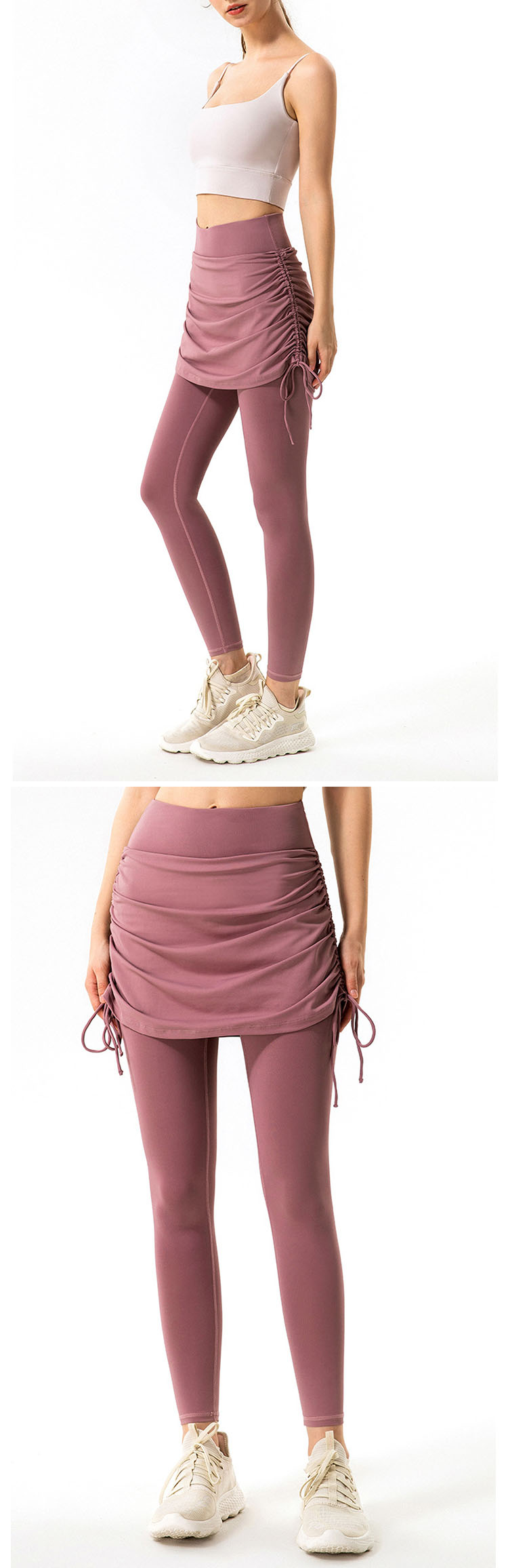 The side drawstring can adjust the tightness at any time.
