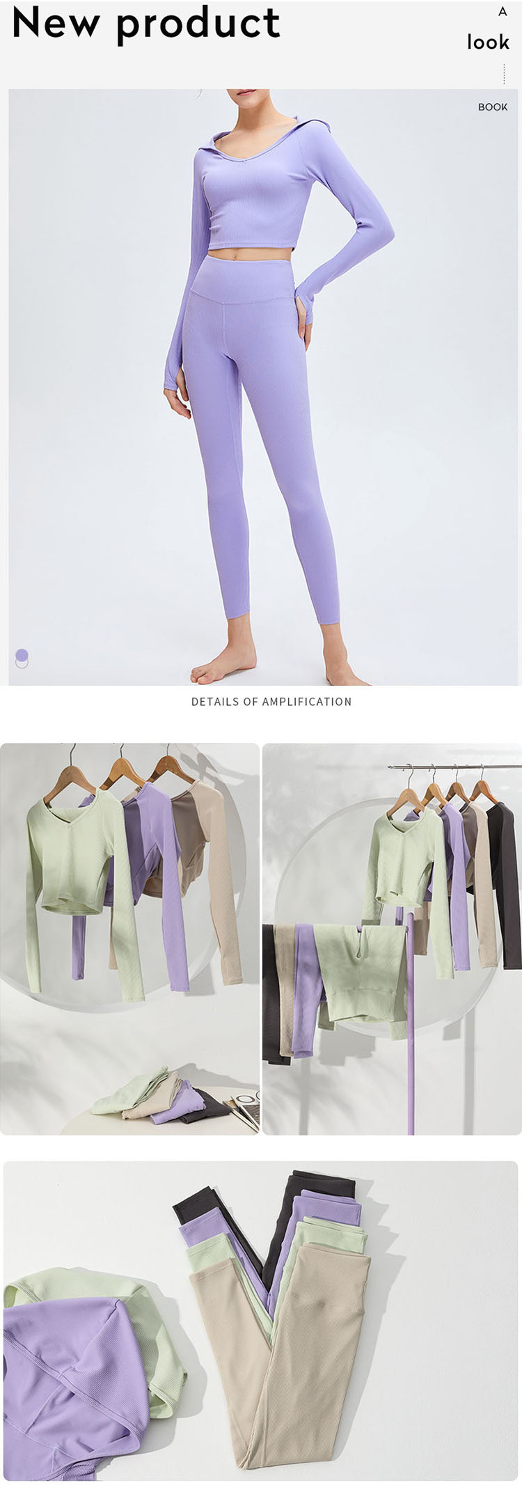 The tight yoga shirts is mainly designed on the front neckline