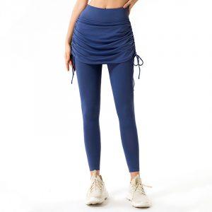Yoga pants with skirt