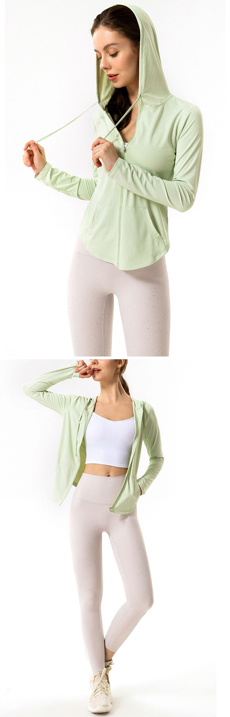 Zipper design, easy to put on and take off exercise, easy to release the restraint of exercise.
