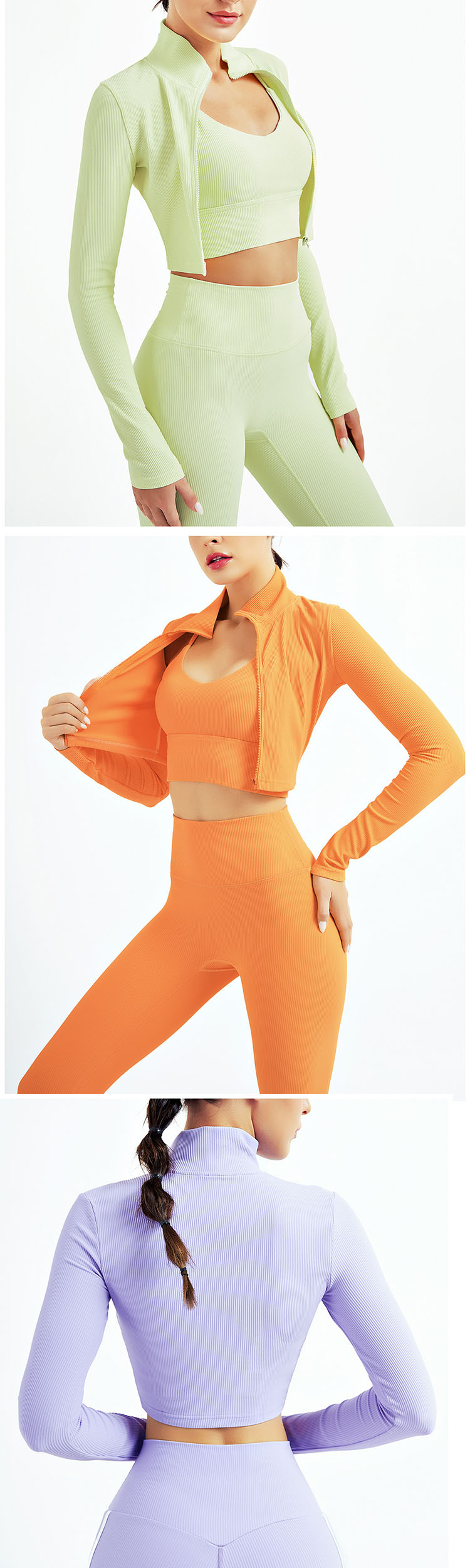 Adopts elastic fabric to fit the body curve and exercise without burden.