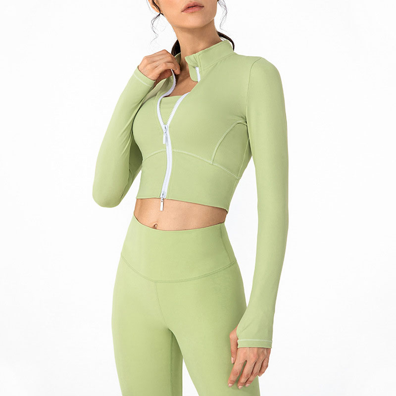 Cropped workout jacket