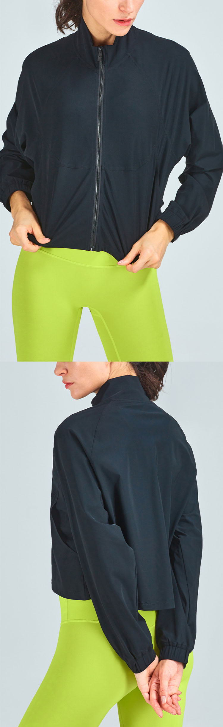 Loose version design, comfortable and tight-fitting, close to the body.