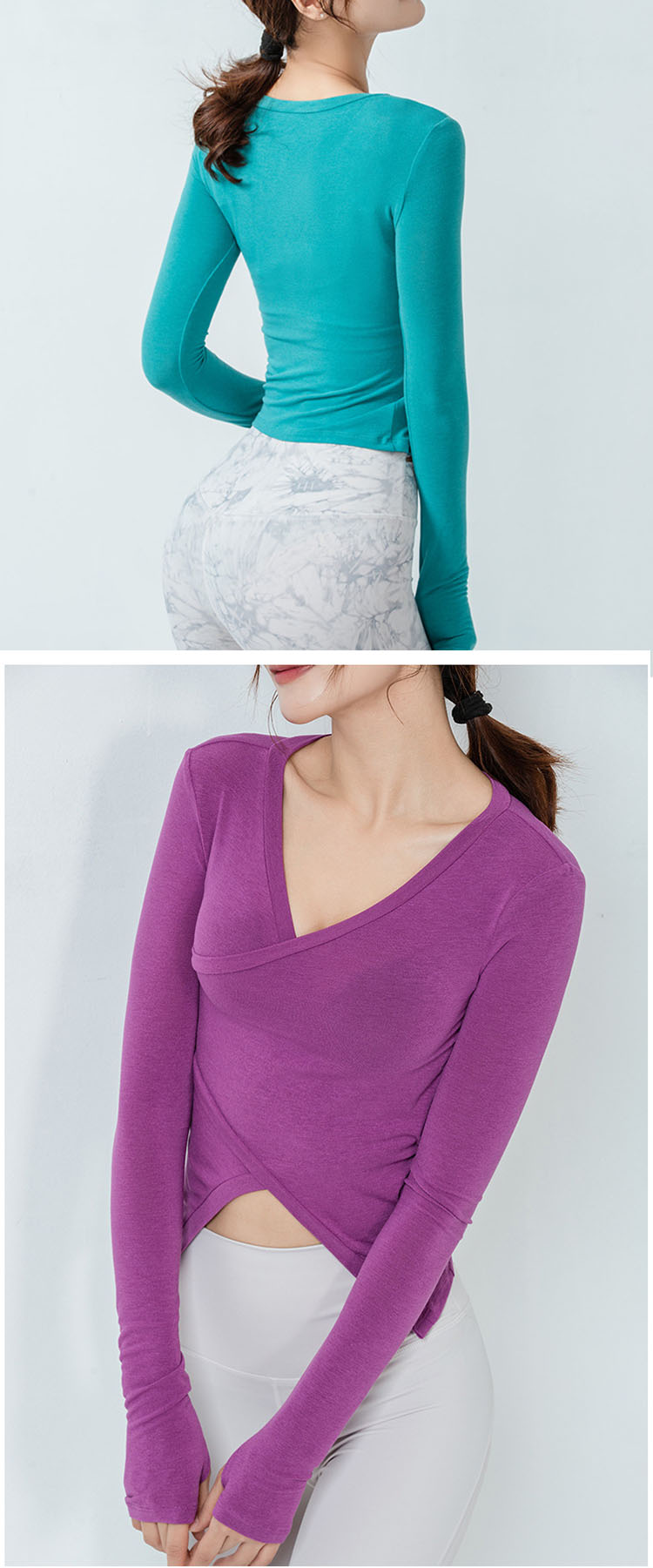 Use high-elastic fabric, skin-friendly and breathable. Fits to the body and makes exercise more comfortable.