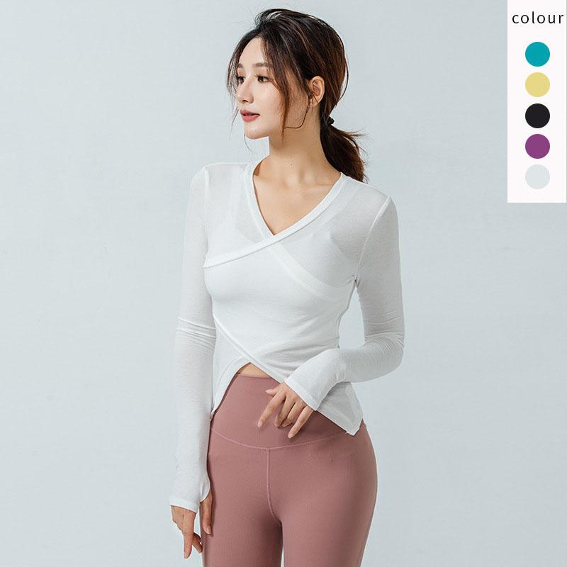 White long sleeve athletic shirt