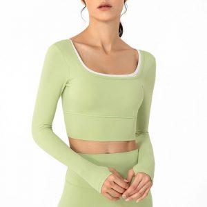 Women's activewear long sleeve tops