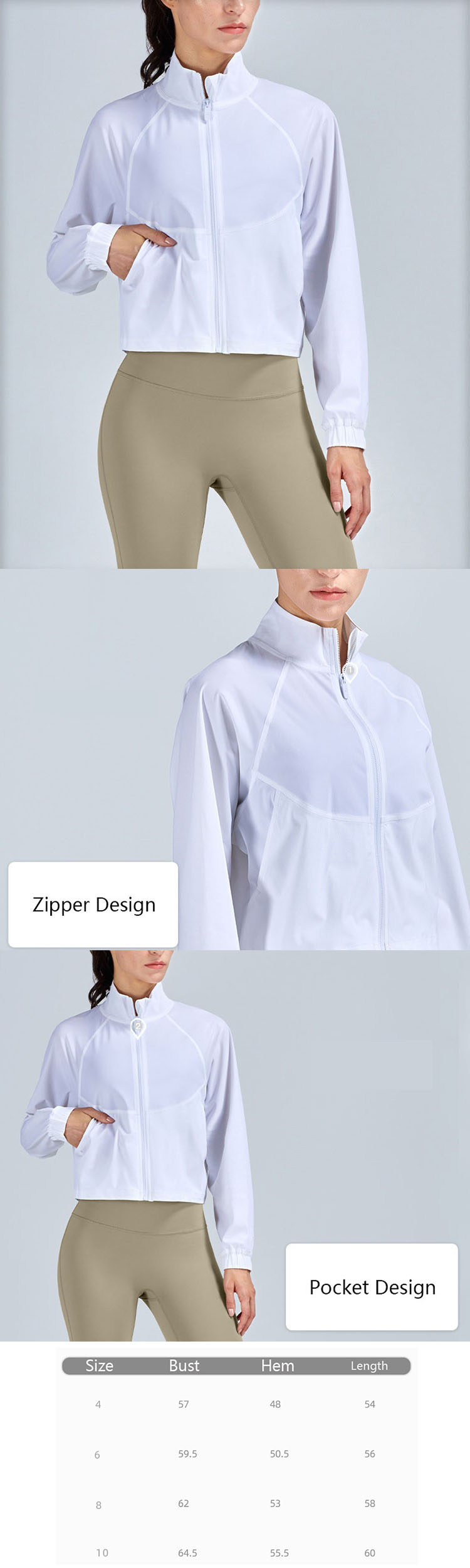 Womens sports coat is suitable for running