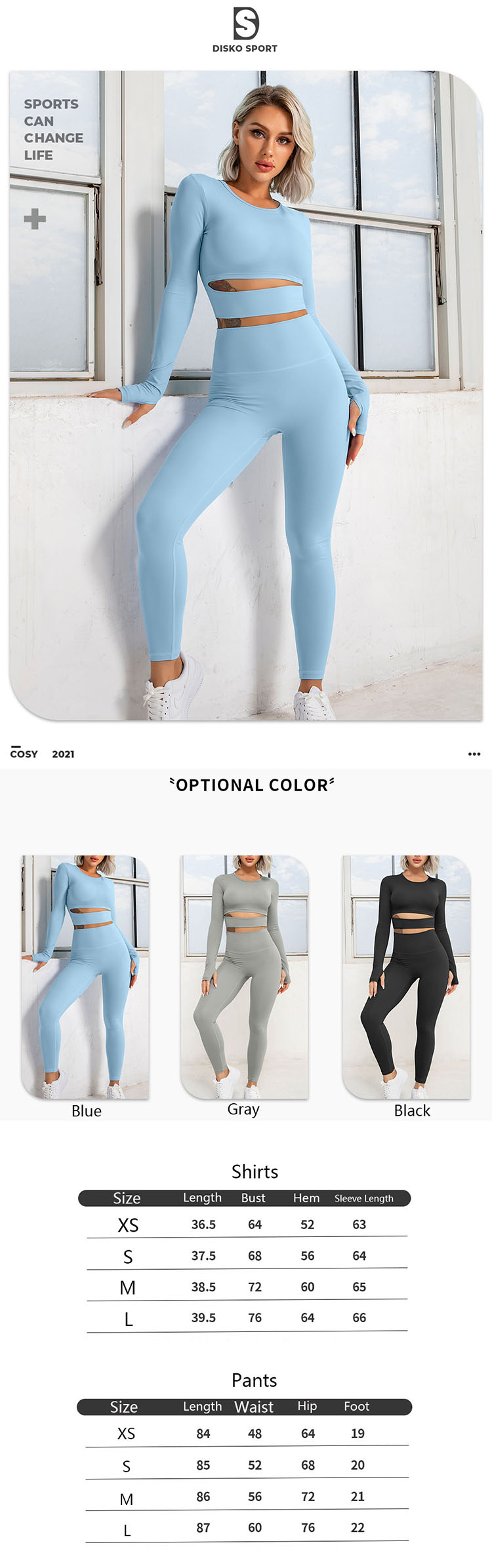 Fashion bloggers and idol's goods have made blue long sleeve workout top a trendy item