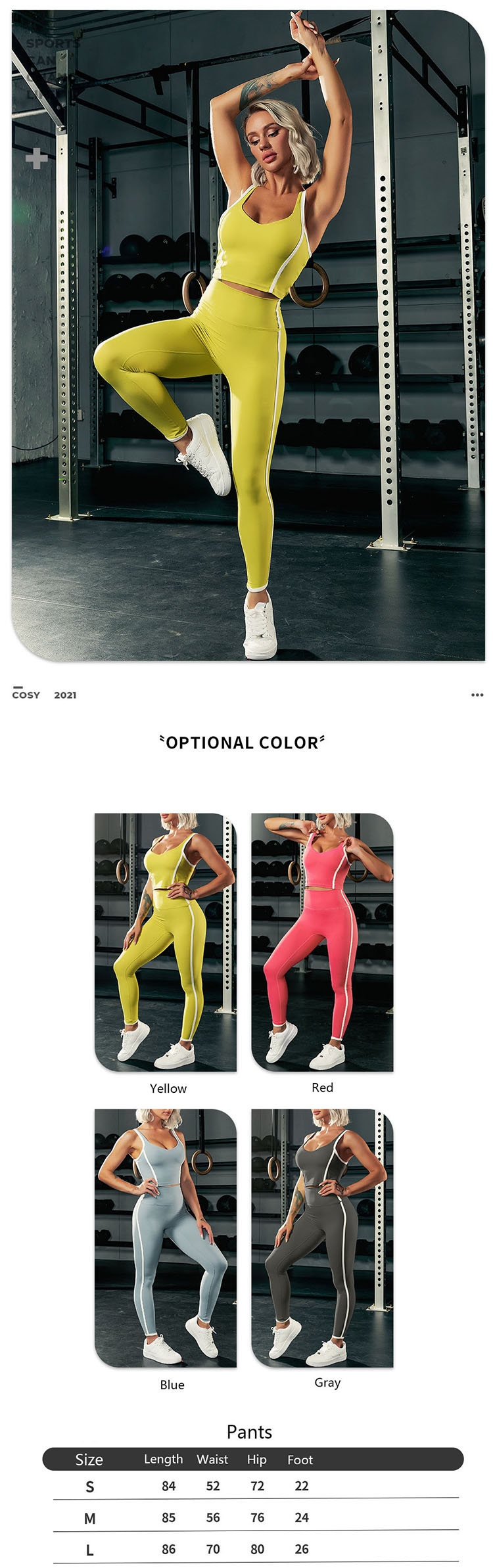 The changing design of grey athletic leggings is the key direction in the pattern development of dresses